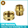 CNC Turning Brass Fitting Tube таможни с Knurling