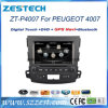 Reproductor de DVD del coche Wince6.0 para Peugeot 4007 con SD GPS