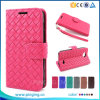 Braided Lines Pattern Leather Wallet Stand Llip Case for Bq Aquaris E4