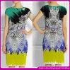 Платье нового ворота способа типа 2014 круглого ретро напечатанное