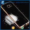 El lado al por mayor TPU flexible transparente de la galjanoplastia de metal mueve hacia atrás la caja del teléfono para la nota 5 de la galaxia de Samsung