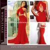 Сексуальное длиннее платье коктеила повелительницы Mermaid Celibrity красное (T6599)