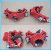 Ferro Ductile T mecânico rosqueado aprovado FM/UL 4  * 2