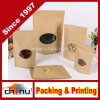 Brown personalizado Kraft Paper Bags para Coffee (220075)