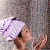 Microfiber Hair Drying Hat Hair Towel con Bowknot (WJ-H1104)