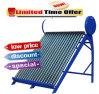 Calentador de agua solar, colector solar, caldera solar, géiser solar, calentador de agua solar del tubo de vacío