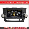 Reprodutor de DVD especial de Car para Toyota High Lander (2008) com GPS, Bluetooth com o Internet de Dual Core 1080P V-20 Disc WiFi 3G do chipset A8 (CY-C035)