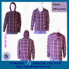 Chemises courantes, chemise occasionnelle à capuchon, chemises de Mens (SD-S003)