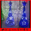 Árbol de navidad blanco de la luz de la estrella del adorno LED del copo de nieve