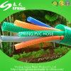 Rouge/Bule/boyau coloré flexible de vert/blanc de PVC d'helice d'aspiration