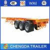 De 3 essieux de conteneur remorque à plat semi remorque de camion de 40 tonnes