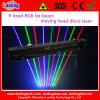 Luz gorda de Satge de la Mover-Cabeza de la viga del laser del disco del RGB DJ