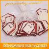 Étiquettes élastiques de papier de bijoux de corde