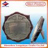 L'écran protecteur en bois décoratif antique fait sur commande de nickelage attribue la plaque