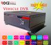 Carro video DVR móvel da segurança do tempo real H. 264 sem fio remotos do cartão 3G GPS WiFi de HDD SD (RC-8004H3C-T)