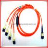 Enige Kabel van het Lint van de Assemblage van de Vezel van de Wijze MTP Optische 3m