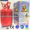 Depósito de gasolina del helio con los globos