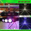 Bewegliches Hauptträger-Licht 9PCS 12W RGBW 4in1 des Armkreuz-LED