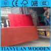 Rojo Color de construcción de madera contrachapada, Pino cara Capa impermeable