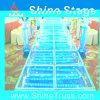 Aluminiumglasstufe bauen Stufe-Hochzeits-Stufe-romantische Stufe zusammen