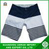 Shorts da praia dos homens do Spandex do poliéster com listrado