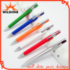 Promotional poco costoso Plastic Ball Pen con Metal Clip (BP0205)