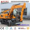 Excavador que recorre del excavador 12t de la rueda del Ce de la maquinaria de construcción de la ingeniería
