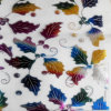 Embroidered stampato Organdy per Decoration