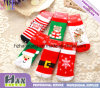 OEM mept Katoenen van de Exporteur Manier Terry Winter Child Christmas Socks (hx-132)