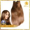 Cabelo brasileiro de seda do Virgin de Rosa Ombre que tece em linha reta extensões de seda do cabelo reto do Virgin brasileiro dos produtos de cabelo de 3 pacotes