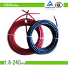 1.5mm2/2.5mm2/4mm2/6mm2/10mm2 Black Color Double Cores PV Solar Flat TUV Certificate PV1-F Photovoltaic Cable