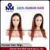 Madame Front Lace Wig de cheveux humains de Vierge de Brésilien de la vente en gros 100%