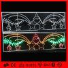 Over Ornamenten van Kerstmis van het Motief de Ceramische over Straatlantaarn