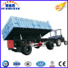 Dois Eixos Side Tipping / Dumping Side Wall / Fence / Box Full Trailer para Agricultrual Tractor