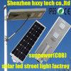 70W 80W luz solar integrada de la lámpara del jardín de la calle del LED con el sensor del contador de tiempo