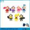 Disco su ordinazione di memoria del USB di marchio di figura animale della scimmia del PVC (PER ESEMPIO 039)