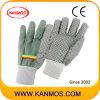 Перчатки трикотажные ПВХ Белый Точки промышленной безопасности работы (41007)