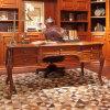 Scrittorio esecutivo di stile di Oppein Italia dell'ufficio rosso classico di legno solido (OST61416)