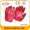 オイルの抵抗力があるPVCによって浸される産業安全作業手袋(51201)