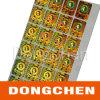Laser Hologram 2d 3D Holographic Sticker d'or