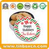 Estaño de la galleta de la galleta del chocolate de la Navidad para el empaquetado del rectángulo de regalo de día de fiesta