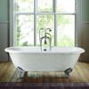 Bañera de hierro fundido de doble punta Clawfoot