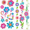 Tatuaje temporal del arte de la etiqueta engomada del tatuaje de la transferencia del agua del tatuaje de la flor