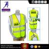 Maglia riflettente fluorescente di sicurezza stradale dei vestiti di sicurezza con la striscia