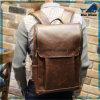 Sac à dos chaud de cuir de sac à dos d'homme de sac d'école de la vente Bw268