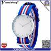 Los relojes de cuarzo las mujeres del reloj casual de las señoras del deporte del diamante Reloj Reloj YXL-252 promocionales de nylon de las rayas de la Mujer banda clásica