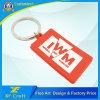 Etiqueta de plástico de goma del anillo dominante del PVC de la letra de la insignia de encargo al por mayor de la compañía con el precio bajo (XF-KC-P08)