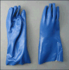 Gant de PVC de paume de Sandy de doublure du Jersey de Knit de chaîne de caractères (5134)