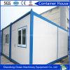 20 pés de casa pré-fabricada de quadro do recipiente do aço claro luxuoso da construção de aço