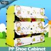 A caixa de armazenamento da sapata da mobília dos miúdos calç o organizador do gabinete